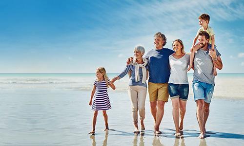 weight loss family at beach